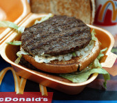 MCDONALDS HAMBURGER IN RAMAT GAN AFTER BROILING